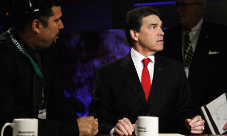 Rick Perry prepares for GOP debate