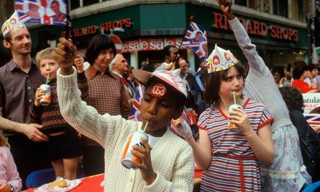 Royal wedding street party  1981