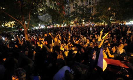 Members of the Occupy Wall Street movement fill Zuccotti Park in New York