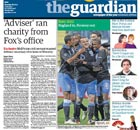 Guardian front page 8 October 2011