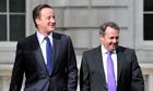 David Cameron and Liam Fox
