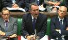 Liam Fox addressing the Commons on Monday