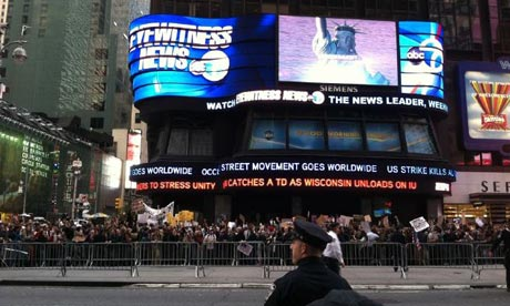 Occupy Wall Street protesters reach Times Square
