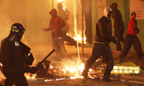 The Tottenham riots, August 2011.