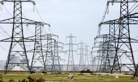 Pylons symbolising electricity consumption