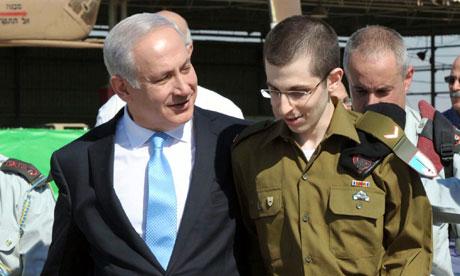 Binyamin Netanyahu welcomes Gilad Shalit