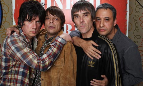 John Squire, Mani, Ian Brown and Reni of The Stone Roses