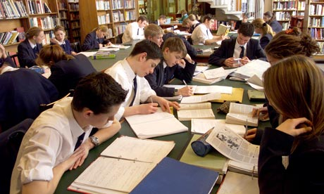 Grammar school pupils at work. The IQ findings indicate teachers should be ...