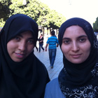 Marwa Akkari and Amal Fattoum