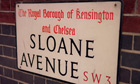 Sloane Avenue road sign