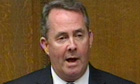 Liam Fox makes his statement to the House of Commons following his resignation