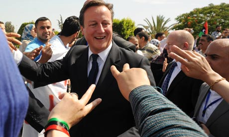 David Cameron in Tripoli