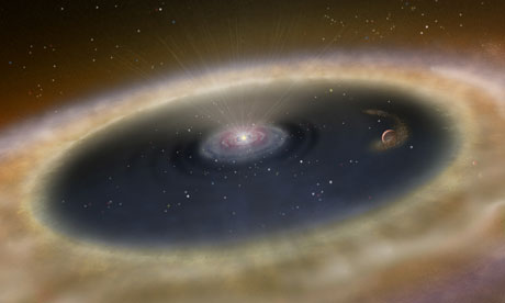 Artist's conception of the view near the planet LkCa 15 b.