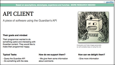 Guardain API client audience archetype