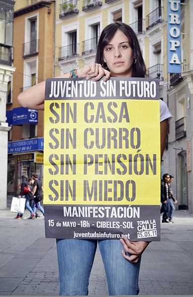 Occupy protests: Rita Maestre, Madrid