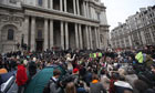 Occupy London Stock Exchange camp refuses to leave despite cathedral plea St Paul's says it has closed for safety reasons, but protesters insist they cannot be moved on without court order.