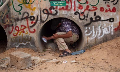 Gaddafi's alleged hiding place