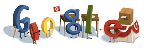 Google Doodle for the Tunisian Elections