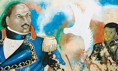Mural depicting Toussaint-Louverture, leader of the Haitian slave revolt