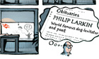 Stephen Collins cartoon: Philip Larkin
