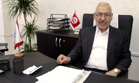 An-Nahda party leader Rachid Ghannouchi