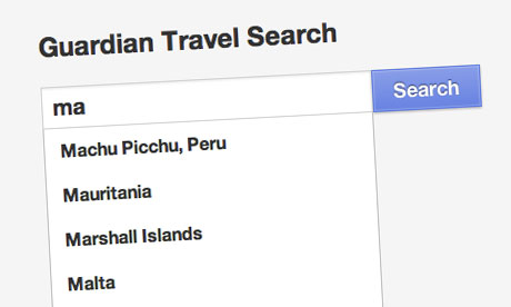 Guardian Travel Search