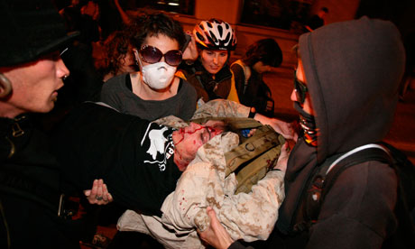 Scott Olsen injuries prompt review as Occupy Oakland protests continue Occupy-Oakland-Scott-Olse-007