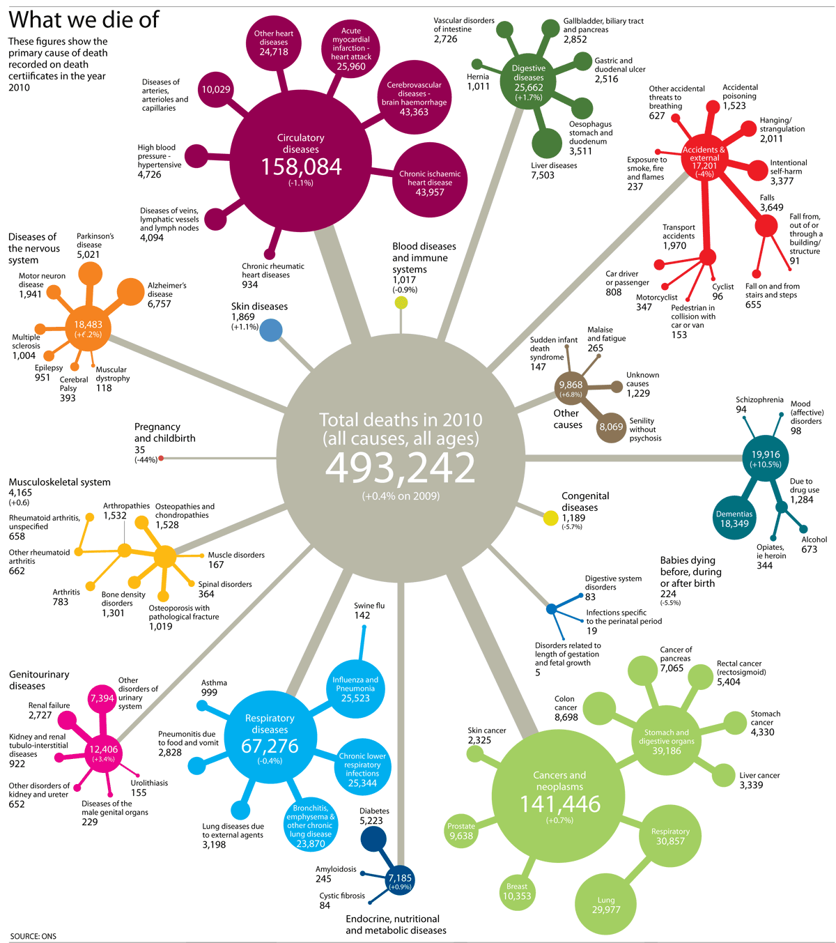 Death Statistics by Cause Every Cause of Death in