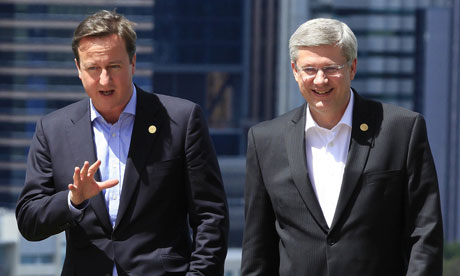 David Cameron and Stephen Harper