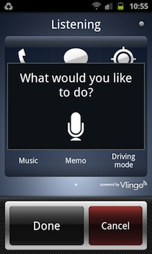Voice talk on the Samsung Galaxy SII