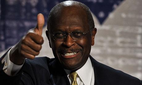 The Republican presidential hopeful Herman Cain has a narrow lead in Iowa