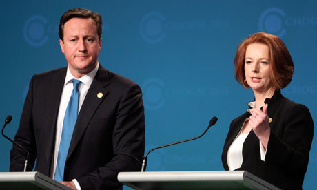 Julia Gillard David Cameron,