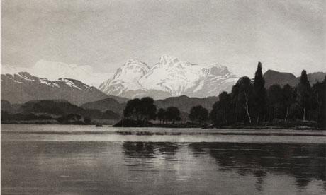 October Snow, Windermere by Bernard Eyre Walker (1887-1972) Aquatint.