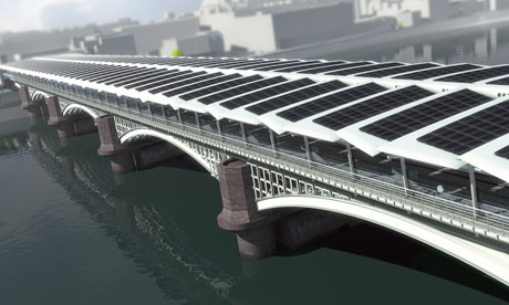 Blackfriars bridge with solar panels