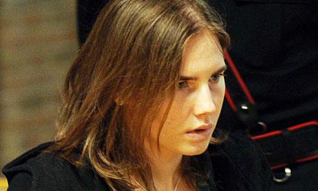 Amanda Knox at her appeal hearing