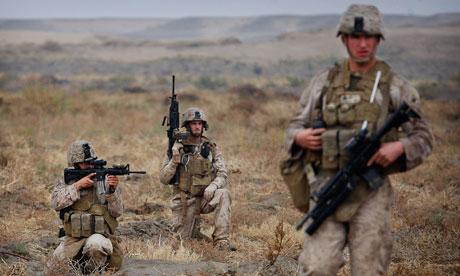 US troops in Helmand province, Afghanistan