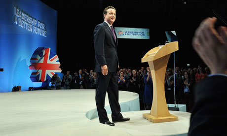 David Cameron at the Tory party conference