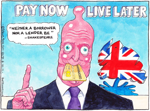 Pay now, live later, Steve Bell