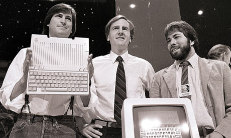Steve Jobs, John Sculley and Steve Wozniak