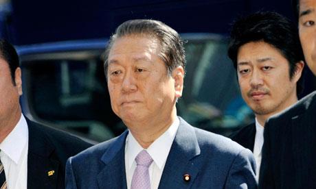 Ichiro Ozawa enters the Tokyo district court