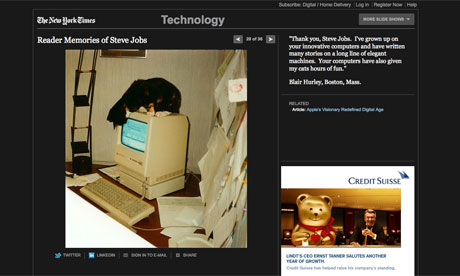New York Times gallery of Steve Jobs reader tributes