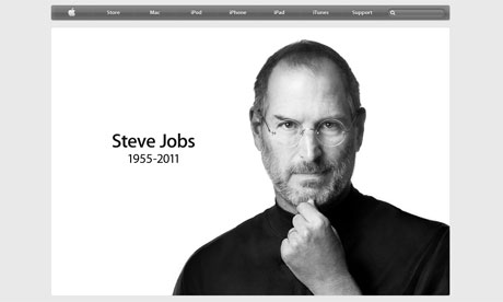 The Apple website tribute to Steve Jobs