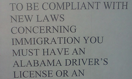 Alabama immigration poster