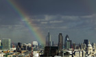 Rainbow over City of London
