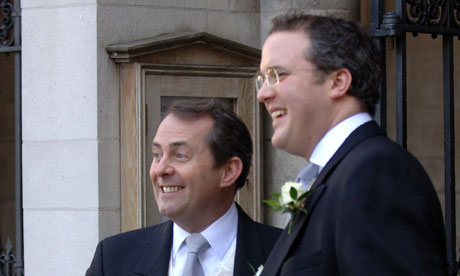 Defence secretary Liam Fox with his best man Adam Werritty
