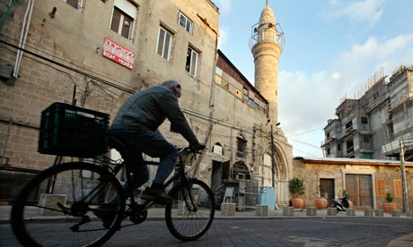 Jaffa, south of central Tel Aviv, where graves were desecrated on Yom Kippur. Photograph: Gil Cohen Magen / Reuters/Reuters