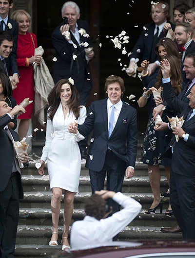 paul mccartney wedding: Paul McCartney and his bride Nancy Shevell