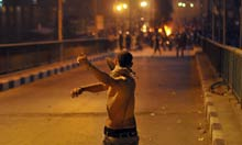 Coptic protest in Cairo