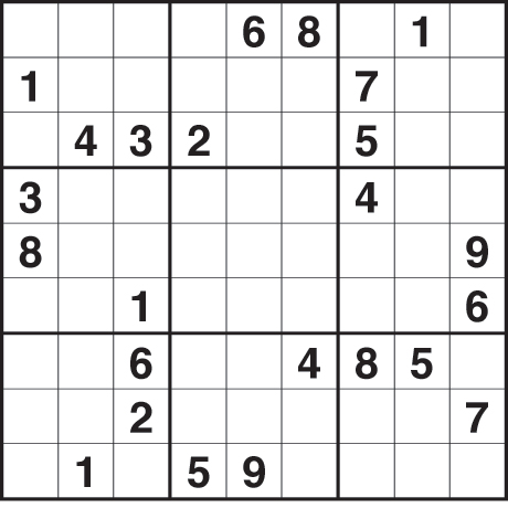 Printable Sudoku Puzzles Page on Fill The Grid So That Every Row  Every Column And Every 3x3 Box