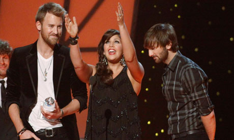 Lady Antebellum accepts best vocal group award at the Country Music Association Awards